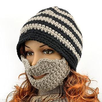 Herren Bart-Mütze/Beanie Winter Hat Outdoor Face Wärmer, schwarz ...