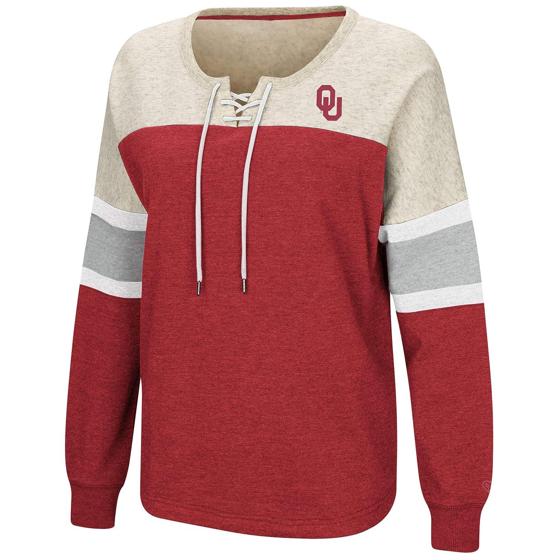 Colosseum Auburn Tigers Womens NCAA Greatness Oversized Lace Up Sweatshirt
