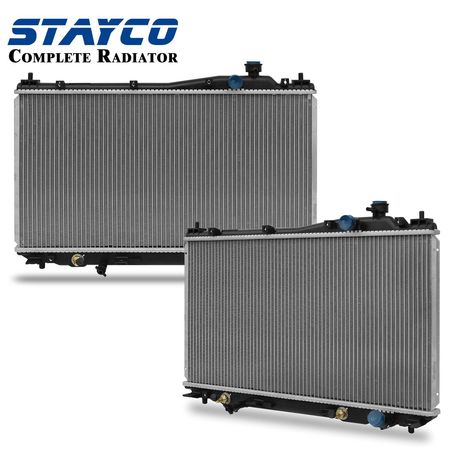STAYCO 2354 Radiator For 2001-2005 Honda Civic 1.7L L4 with Transmission Oil Cooler Fittings