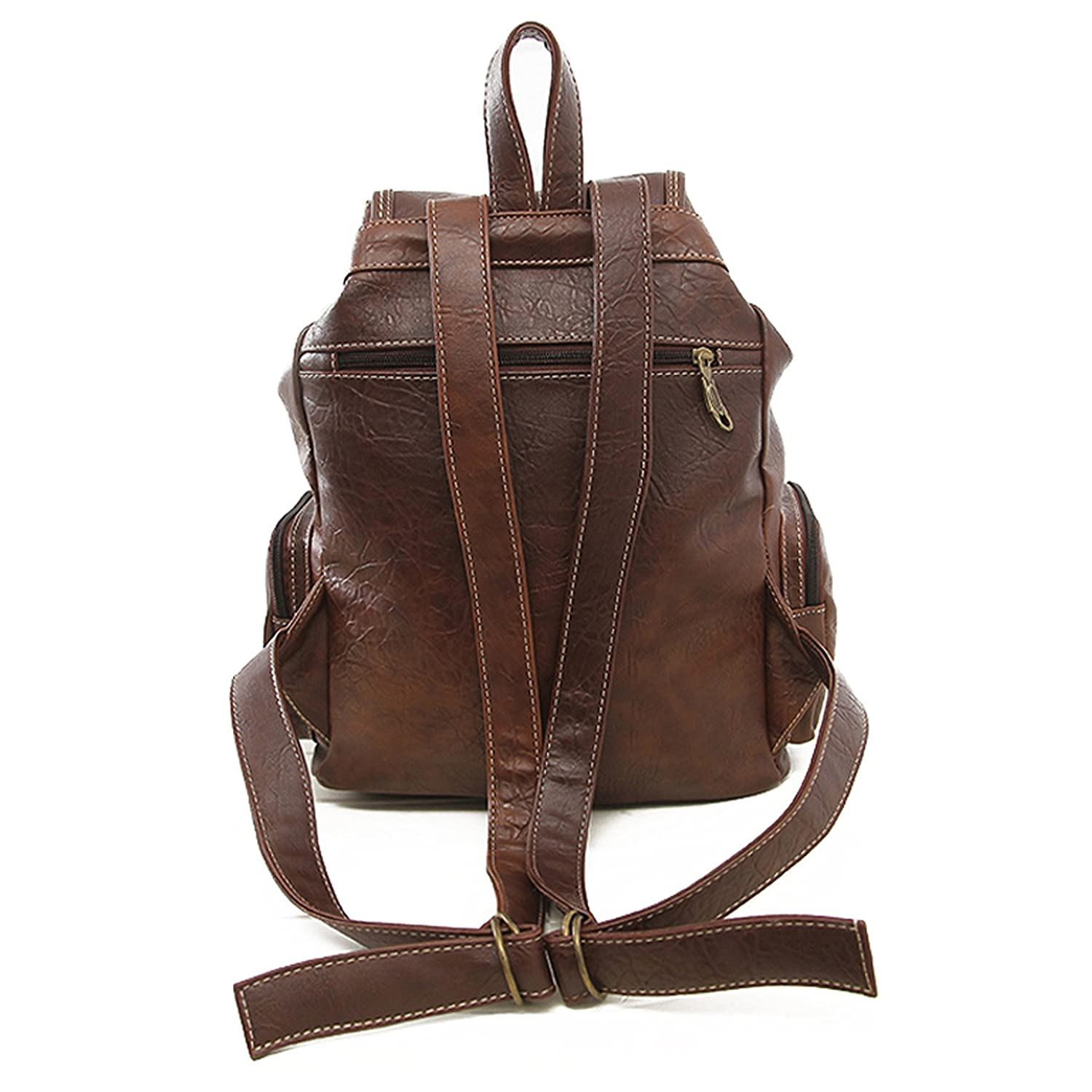 475c77ece041 Amazon.com   Women Backpack Vintage Backpacks for Teenage Girls Fashion  Large School Bags High Quality PU Leather BPN12 Brown   Everything Else