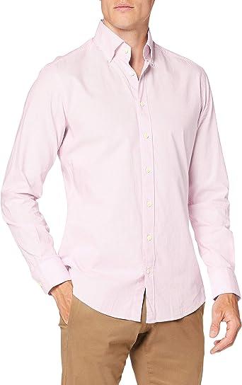 Hackett London Washed OX Ticking STR Camisa para Hombre: Amazon.es: Ropa y accesorios
