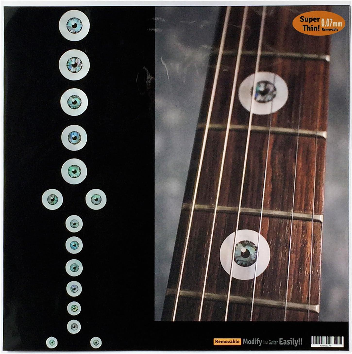 Pegatinas para guitarra y bajo con incrustaciones de diapasón ...
