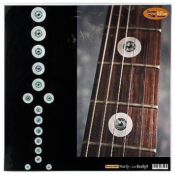 Pegatinas para guitarra y bajo con incrustaciones de diapasón, juego de bola de ojos y pala: Amazon.es: Instrumentos musicales