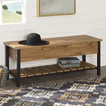 Excellent We Furniture Open Top Storage Bench Barnwood Gmtry Best Dining Table And Chair Ideas Images Gmtryco
