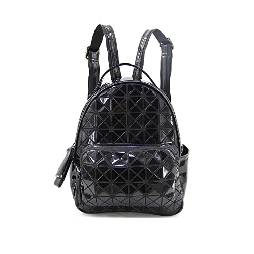 b82a510f1d68 KAISIBO Fashion Laser Geometric backpack PU Leather Rucksack Women Girls  Ladies Backpack School Shoulder Travel Bag (Black)  Handbags  Amazon.com