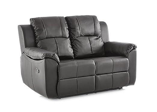 Valencia - juego de sofás reclinables de piel de 3 + 2 ...