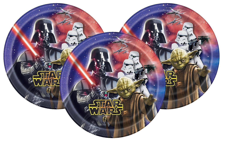 "Amazon.com: Disney Star Wars Postre Platos de papel 7"" ..."