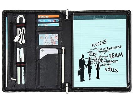 a02f6937e1bc Amazon.com : Genuine Leather Portfolio Professional Organizer Case ...