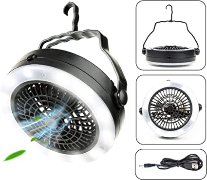 Portable Fan Lamp Accessories Hanging Travel Survival Outdoor Rechargeable