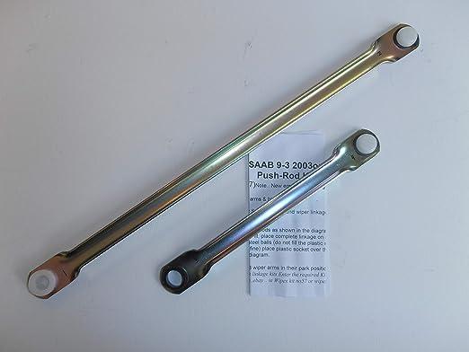 Set de varillas de empuje para acoplamiento del limpiaparabrisas de Saab 9-3.: Amazon.es: Coche y moto