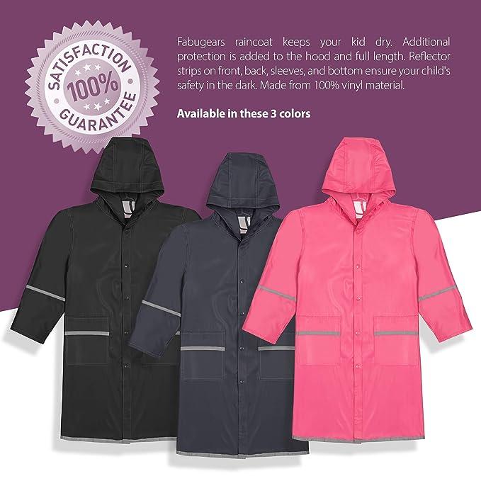 a4827e4450c4 Amazon.com  Fabugears Boys Girls Kids Juniors Raincoat