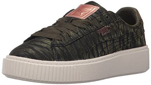 75f6d22d9bc1 Puma Women s s Basket Platform Vr Wn Sneaker Green  Amazon.co.uk ...