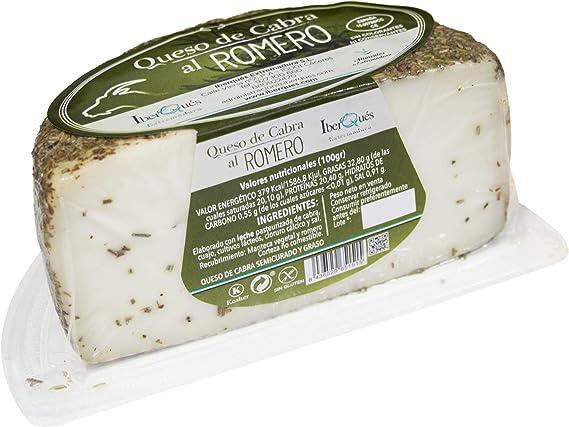 IBERQUÉS queso de cabra romero cuña 450 gr: Amazon.es ...