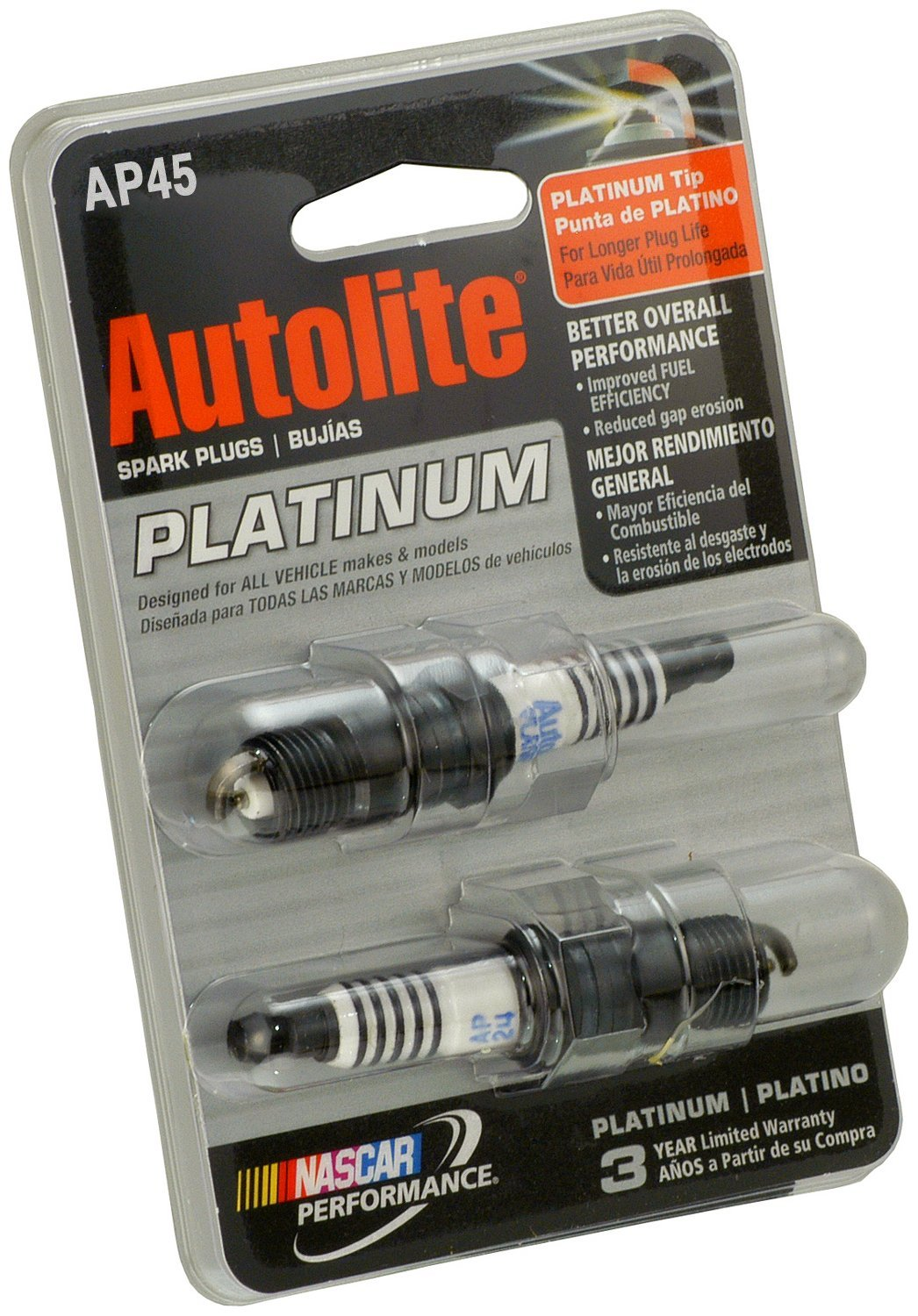 Amazon.com: Autolite 45DP2 Copper Resistor Spark Plug (Pack of 2): Automotive