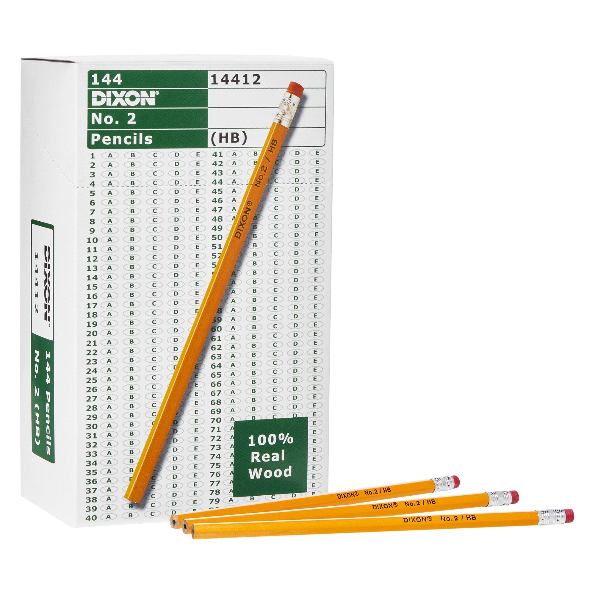 Dixon Wood-Cased Graphite Pencils, #2 HB Soft, Yellow, 144 Count (14412) by Dixon (Image #2)