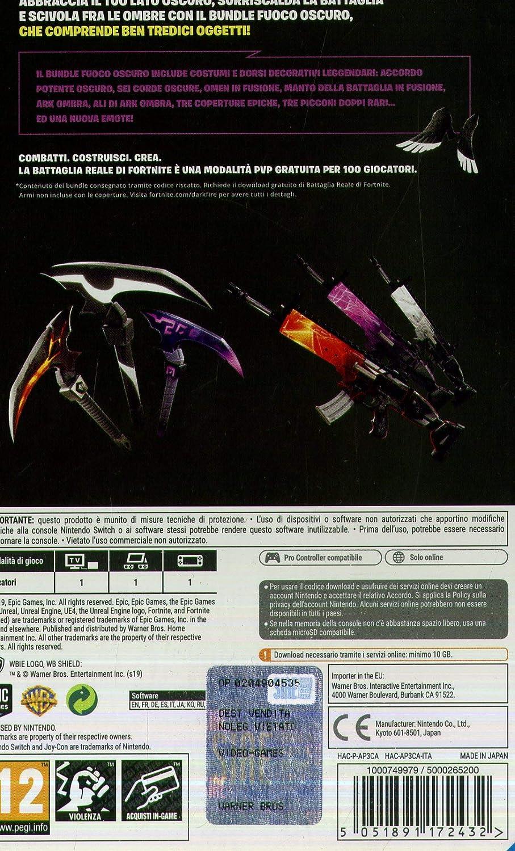 Fortnite - Bundle Fuoco Oscuro [Importación italiana]: Amazon.es ...
