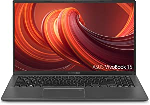 "ASUS VivoBook 15 Thin & Light Laptop, 15.6"" FHD Display, AMD Quad Core R7-3700U CPU, 8GB DDR4 RAM, 512GB PCIe SSD, AMD Radeon Vega 10 Graphics, Fingerprint, Windows 10 Home, Slate Gray, F512DA-NH77"