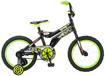 21bd3819b8d Teenage Mutant Ninja Turtles Boy's Bicycle, 16-Inch, Black: Amazon ...