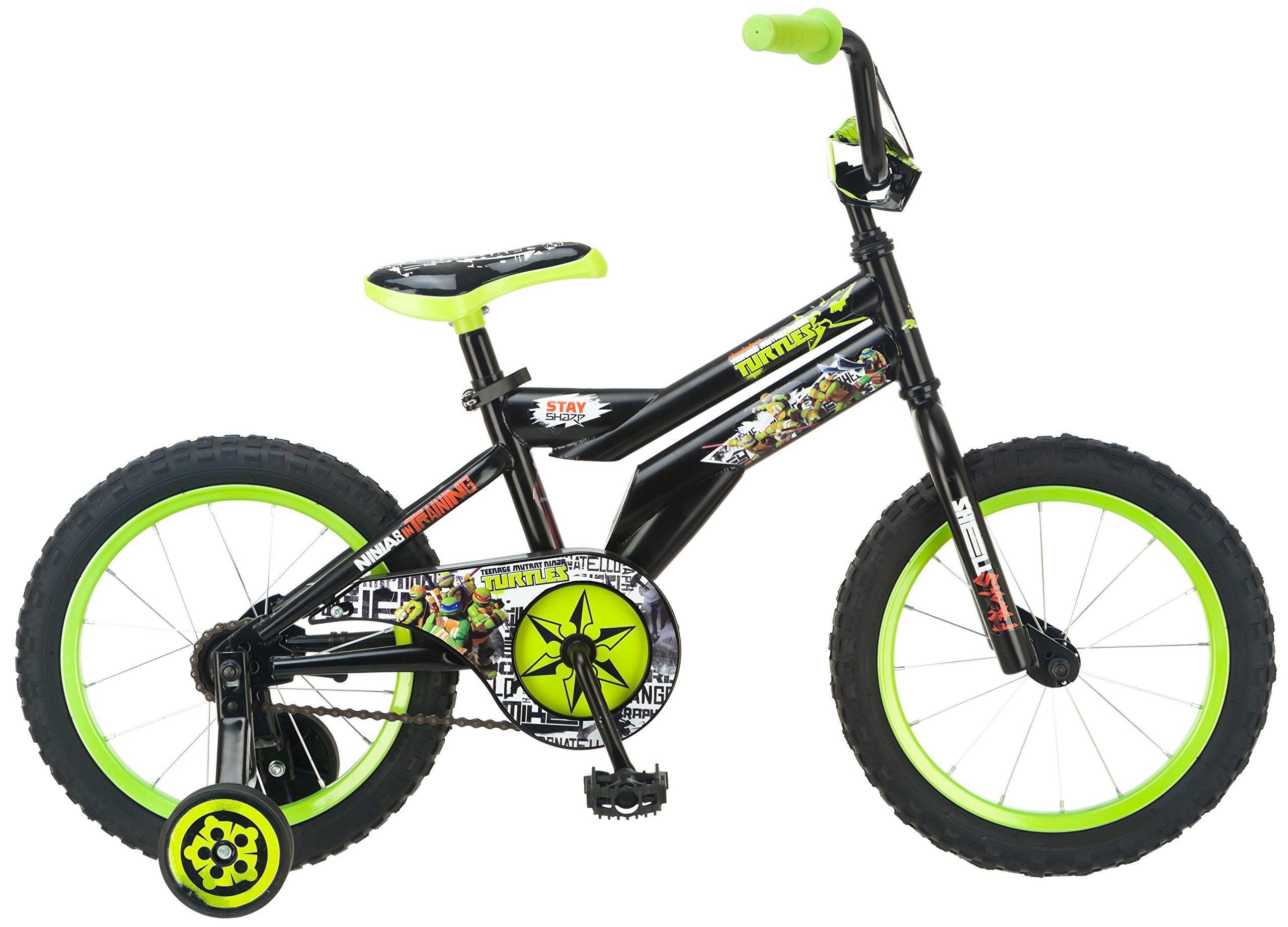 Teenage Mutant Ninja Turtles Boy's Bicycle, 16-Inch, Black by Nickelodeon