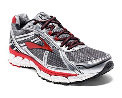 a2c2d1a080497 Brooks Defyance 9 Mens Running Shoes - Silver Red White