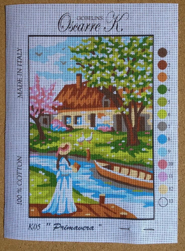 Printed Canvas cod K4stagioni Needlepoint Kit Four Seasons 4 Pieces Measuring 9x6.3 23x16cm