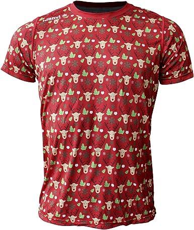 Luanvi Edición Limitada Camiseta técnica Renos, Hombre, Verde Oscuro, M (50-68cm): Amazon.es: Ropa y accesorios