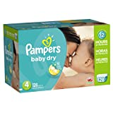 Amazon Price History for:Pampers Baby Dry Diapers Size 4, 128 Count