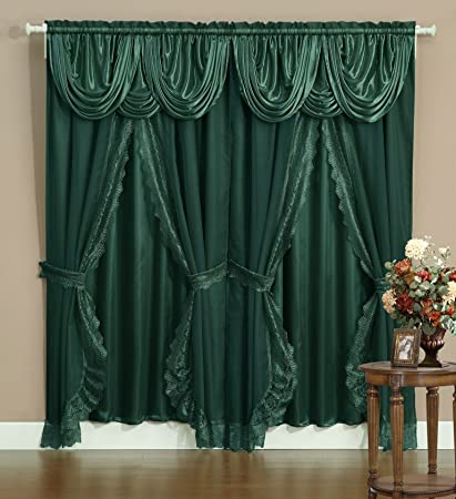 Victorian window treatments Bohemian Image Unavailable Amazoncom Amazoncom Victorian Style Bombay Curtain Set 120