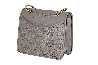 e5522b6b05a Tory Burch Bryant Quilted MINI Crossbody Shoulder Bag 46185 Handbag (French  Gray)