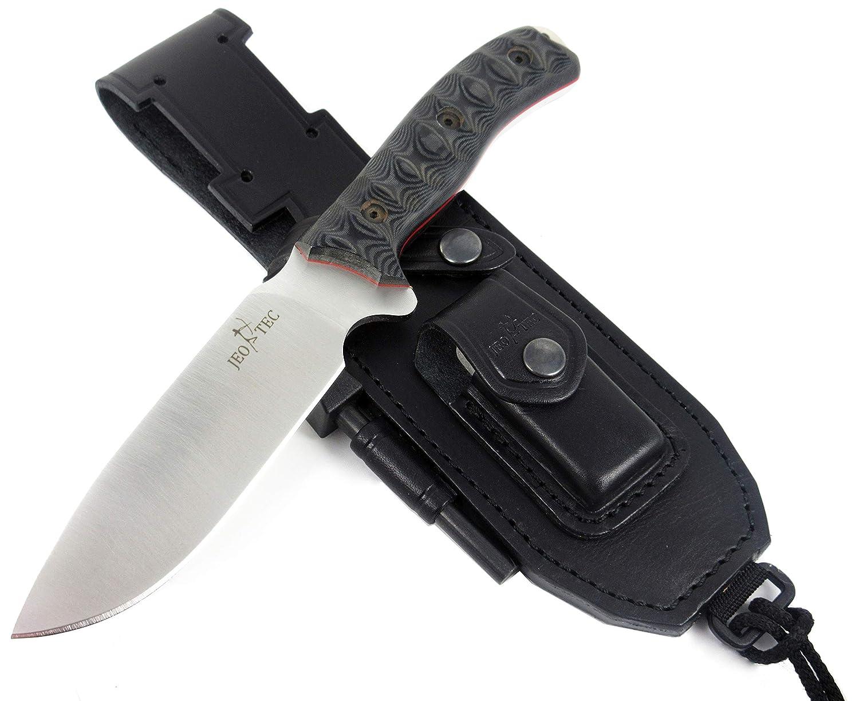 JEO-TEC N 7 Bushcraft Survival Hunting Knife – BOHLER N690C Stainless Steel, Multi-positioned Sheath – Handmade