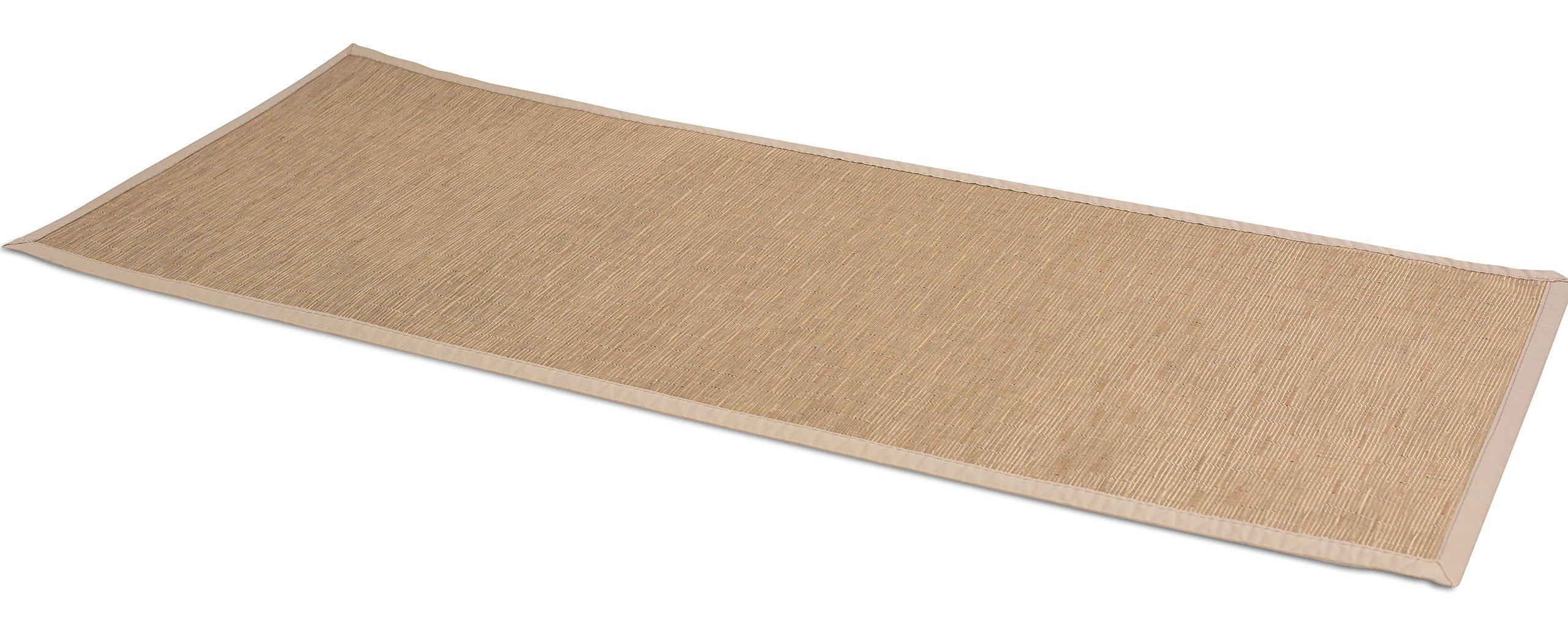 BirdRock Home Indoor Outdoor Floor Runner | Non Slip Floor Mat for Kitchen Hallway Bath Office | 24 x 60 Inches | Tan