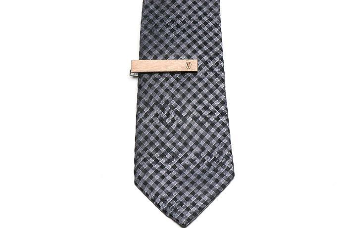 Verde pistacho, de madera de corbata Tie Bar: Amazon.es: Joyería