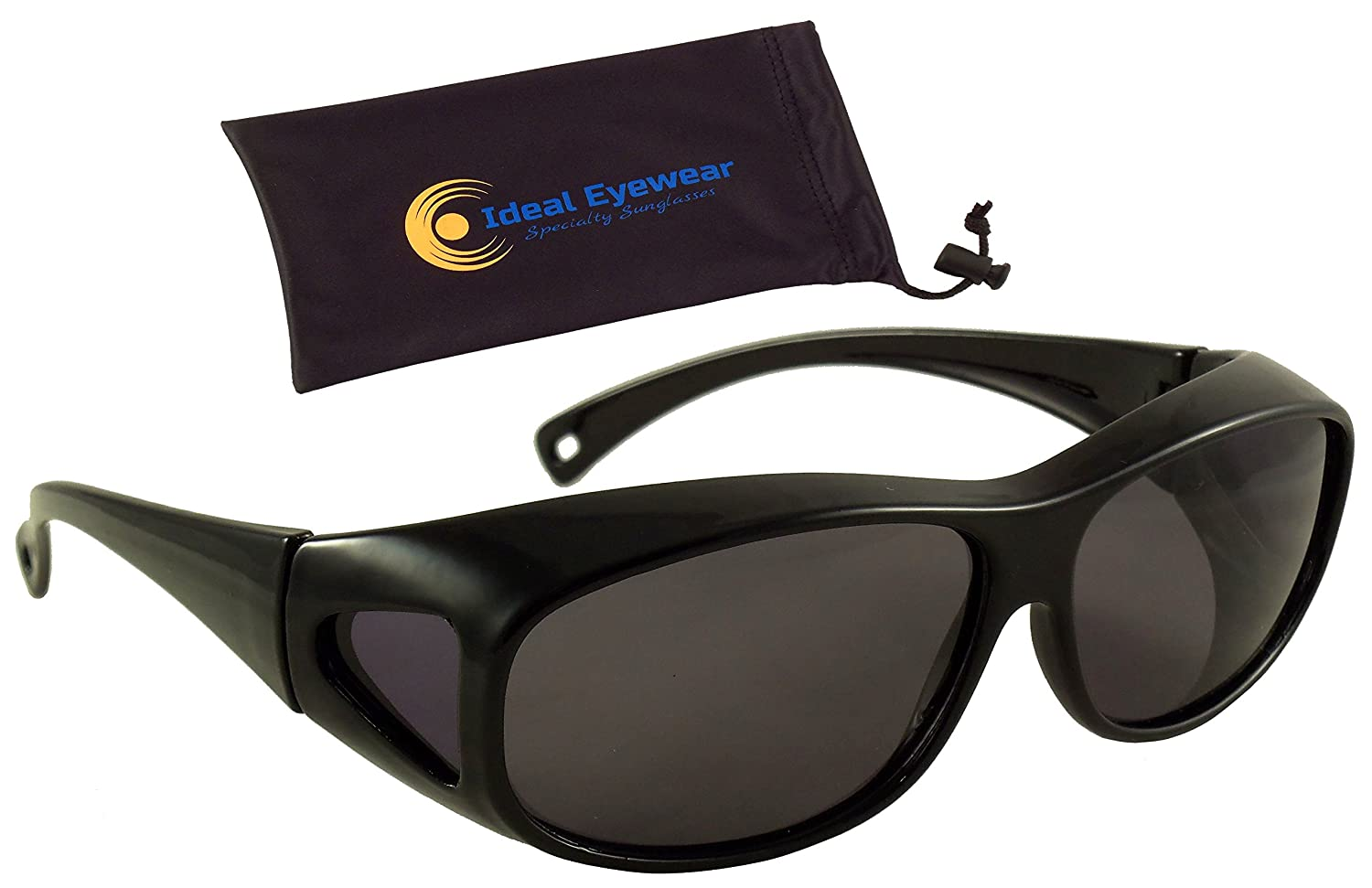 ec2a19540a6b Polarized Floating Fit Over Sunglasses by Ideal Eyewear - Wear Over  Prescription Glasses - They Float! - Great for Fishing