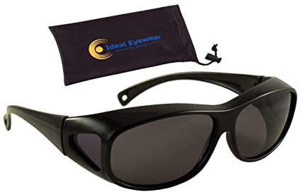 b63165fdaf4 Polarized Floating Fit Over Sunglasses by Ideal Eyewear - Wear Over  Prescription Glasses - They Float