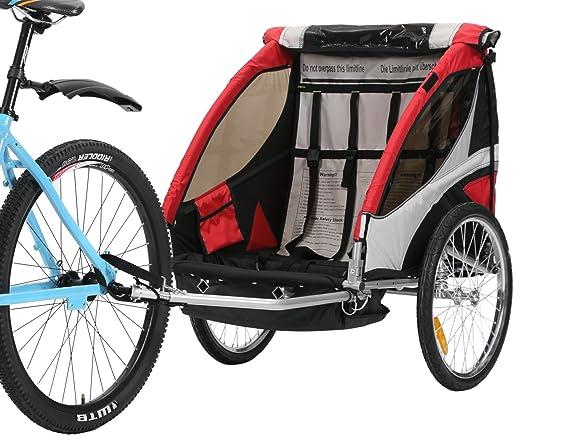 fixi Master 2 en 1 con la bicicleta remolque infantil Q200 A bt504s Rojo: Amazon.es: Bebé