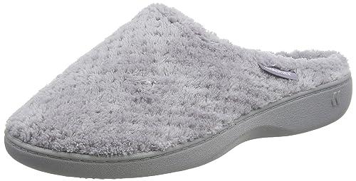 isotoner Ladies Popcorn Mule Slippers, Zapatillas de Estar por casa para Mujer, Gris (Pale Grey PGR), EU: Amazon.es: Zapatos y complementos