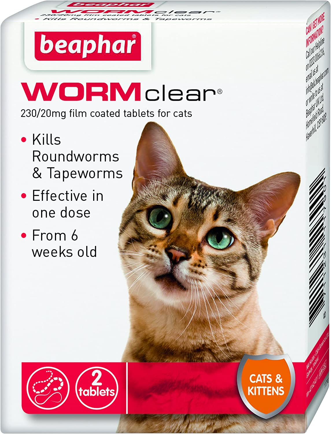 Beaphar Wormclear For Cats And Kittens Amazon Co Uk Pet Supplies