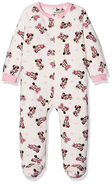 Disney Minnie Mouse Baby Hearts, Mono para Bebés, Blanco (White 11-0604TC