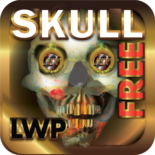 Skull Fire LWP HD+ FREE Halloween Live Wallpaper -