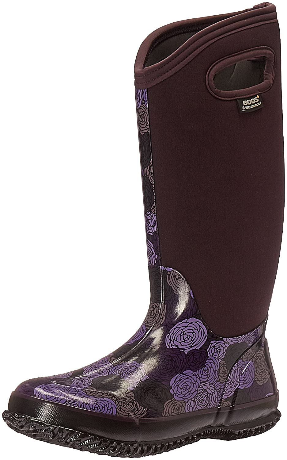 Bogs Ladies Classic Rosay Rosay Rosay Tall schwarz Multi Insulated Warm Wellington Stiefel 72032 (UK4, Plum) 679bb2
