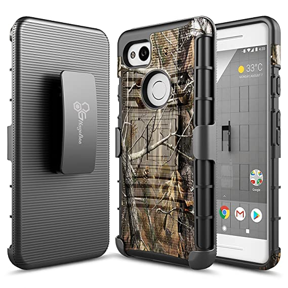 designer fashion 24a8d 8079e NageBee Belt Clip Holster Case Compatible with Google Pixel 2 XL [Heavy  Duty] Armor Shock Proof Dual Layer [Swivel Belt Clip] [Kickstand] Holster  ...