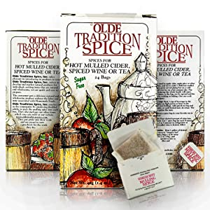 Olde Tradition Spice: Mulling Spices in Tea Bags for Hot Apple Cider or Mulled Wine- 24 Count