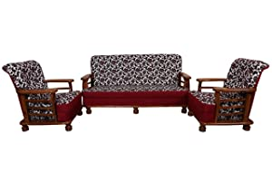 Best Furnitures Sapna House Sofa Teakwood (3+1+1)