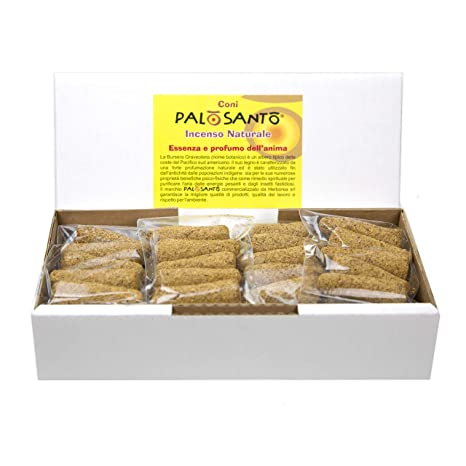 Coni incenso Palo Santo varietà Amarillo - Incenso Naturale - Aroma Ideale  per profumare la casa ca65396649b9