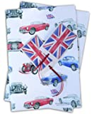 MG Classic Car inspired Gift Wrapping Paper and tags