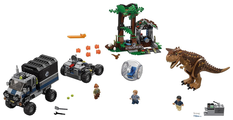 LEGO Jurassic World - Huida del Carnotaurus en la girosfera, juego ...