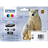 Epson Polar Bear 26XL High Capacity Multipack Ink Cartridges - Multi-Coloured