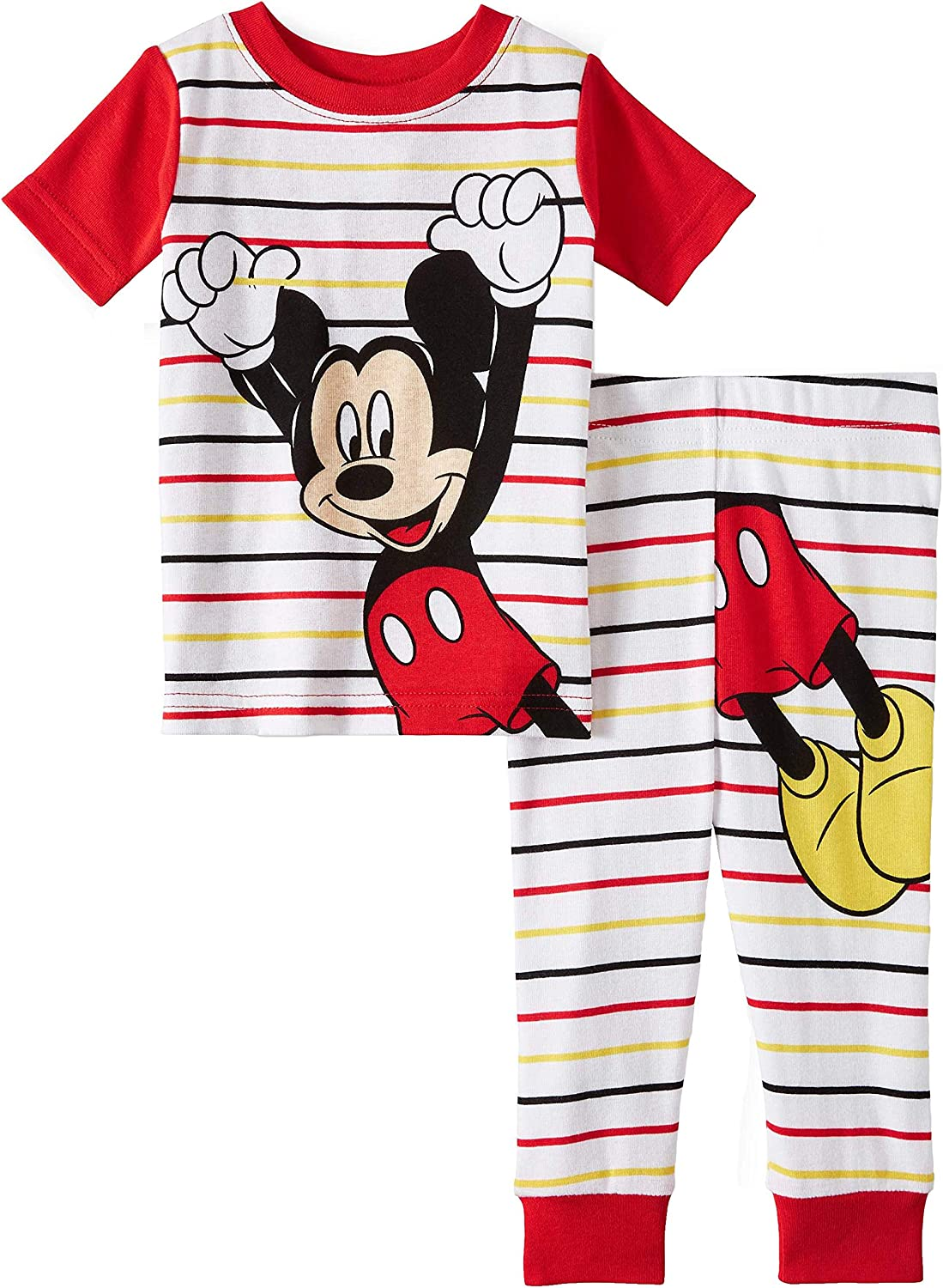 Mickey Mouse Disney Boys 2 Piece Comfy Sleepwear Pajama Set
