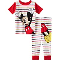 Mickey Mouse Baby Boys Pajamas 2 Piece Short Sleeve Cotton Set