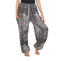 Lofbaz Women's Floral Eye Boho Harem Pants Bohemain hipster One Size